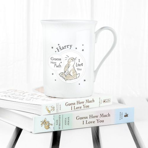 Personalised Guess How Much I Love You Sitting Little Nutbrown Hare Bone China Mug